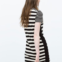 Combined striped dress