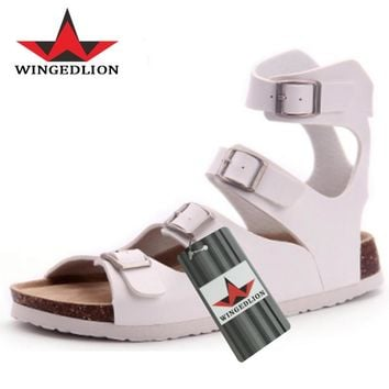 WINGEDLION cheap shoes china 2017 sandals men like it and hot sale in USA mens leather sandal,they call the best male sandal