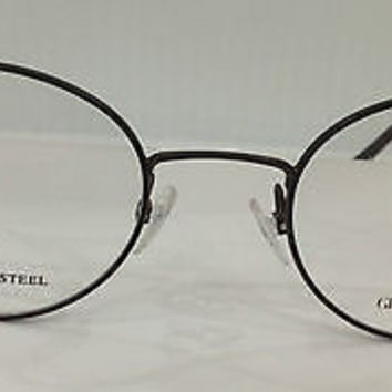 NEW AUTHENTIC GIORGIO ARMANI GA454 COL LKM BROWN ROUND EYEGLASSES FRAMES 46MM