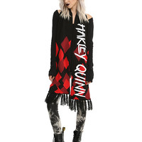 DC Comics Harley Quinn Diamonds Knit Scarf