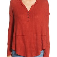 Love on a Hanger Thermal Henley Top | Nordstrom