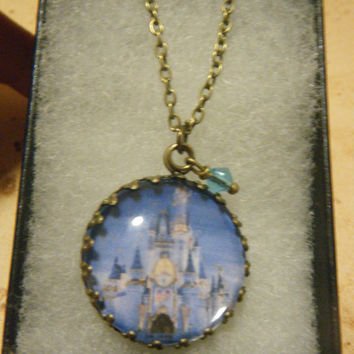 Cinderella's Castle Cameo Necklace by KawaiiCandyCouture on Etsy