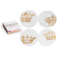 Rosanna 'King's Road Redux' Dessert Plates - White (Set of 4)