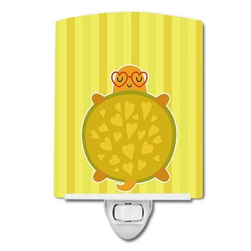 Turtle with Glasses Ceramic Night Light BB6736CNL
