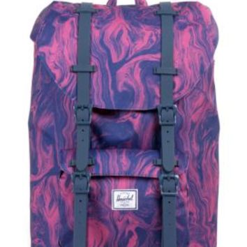 Herschel, Little America Mid Backpack - Red Marble/Rubber - Women's Wear - MOOSE Limited