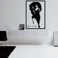 Stevie Wonder Wall Decal Framed Large 17 x 25 Inches