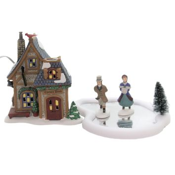 Department 56 House HOLIDAY SKATING PARTY DV Porcelain Dickens Village 6004806