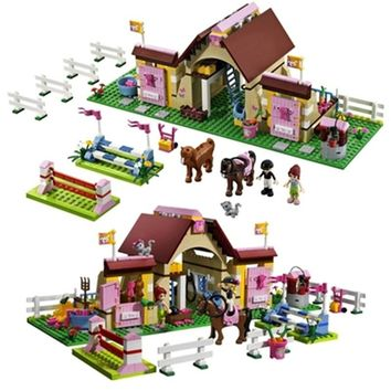10163 Bela Building Blocks Series Friends Heartlake Stables Mia's Farm Horse Figures Girls Toys Compatible with Legoe 3189