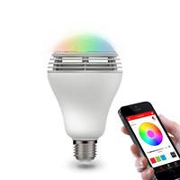 Bluetooth Speaker Smart Dimmable LED Light Bulbs Color Changing Lighting Romantic party Lights