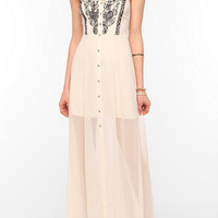 Ecote Willow Embroidered Maxi Dress