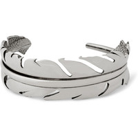 Alexander McQueen - Silver-Plated Feather Bracelet | MR PORTER