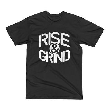 Rise and grind, Mens Workout shirt, Mens gym shirt, Gym tshirt, Muscle Tee, Mens Fitness tshirt, Bodybuilding shirt, Fitness motivation,