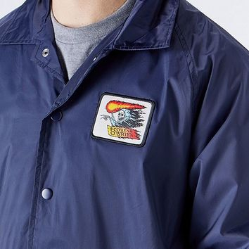 Santa Cruz O'Brien Reaper Patch Coaches Jacket | Urban Outfitters
