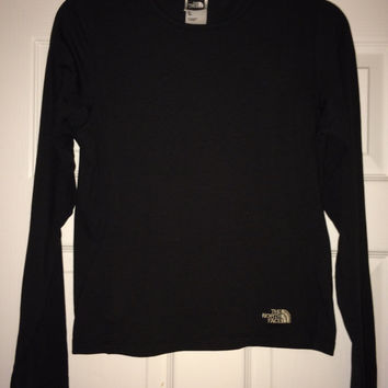 Sale!! Vintage THE NORTH FACE Vaporwick Women's black sweatshirts Tnf running jogging long sleeve T shirt Made in Usa