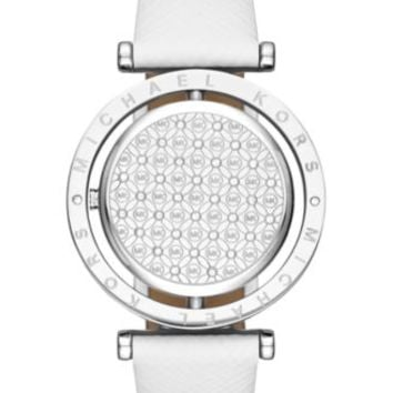 Michael Kors Women's Averi White Leather Strap Watch 33mm MK2524 | macys.com