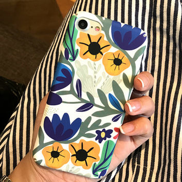 Floral and Leaf Case for iPhone 7 7Plus & iPhone se 5s 6 6 Plus Best Protection Cover +Gift Box-98