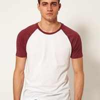ASOS T-Shirt With Contrast Raglan Sleeves at asos.com