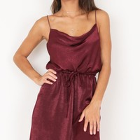 Rialto Dress in Wine Produced By SHOWPO