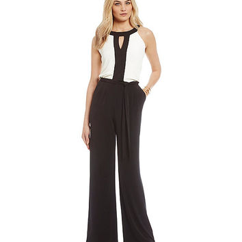Vince Camuto Colorblock Jumpsuit | Dillards