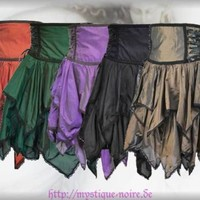 Steampunk Blüten Rock Petal Skirt High Waist Gothic Zipfel Witch 5.Farben Wicca