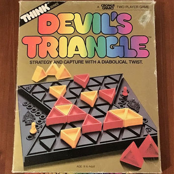 Vintage 1986 Devil's Triangle Board Game / Retro Think Series Games / Croner Games / Strategy Game