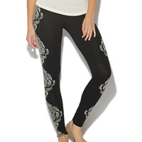 Lace Print Legging | Shop Just Arrived at Wet Seal