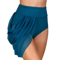Adult Emballe High Waist Mesh Drape Brief