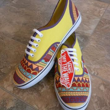 Tribal Print Shoes/ Vans