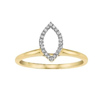 Cherish Always Diamond Accent 10k Gold Marquise Solitaire Ring Enhancer (White)