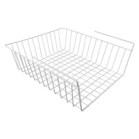 Evelots Under Shelf Basket Wire Rack, White, Slides Under Shelves For Storage