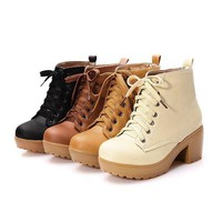 Women's Lace Up Ankle Boot
