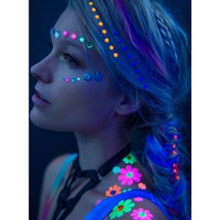 NEON FLOWER POWER HAIR JEWELZ
