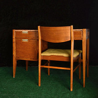 Mid Century Desk and Chair Set