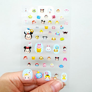 Disney Tsum Tsum Nail Decals Kawaii Nail Wraps Nail Stickers DIY Nail Decoration