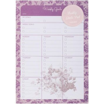 Rose Series Weekly Planner Pad
