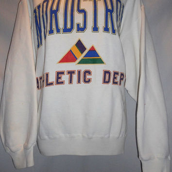 Vintage 80s Nordstrom Athletic Dept Color Block Geometric RARE Sweatshirt Size Medium