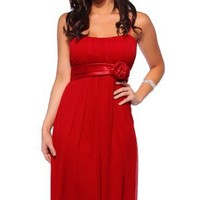 Hot From Hollywood Women's Designer Flowy Pleated Formal Dress
