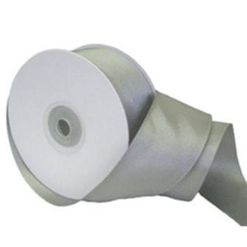 """WIRED Double Faced Satin Ribbon in Silver - 1-5/16"""" Wide x 20 yd"""