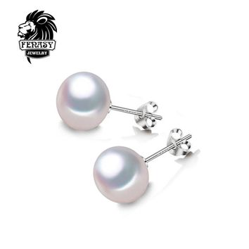 FENASY natural Pearl earring,  Pearl with 925 Sterling Silver earrings,wedding Birthday gift Jewelry Women Accessories earrings
