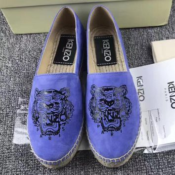 KENZO Fashion Espadrilles For Women Shoes Blue G-ALS-XZ