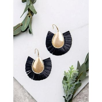 Black Stop and Stare Earrings