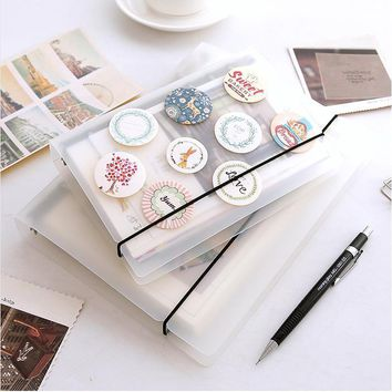 A5 A6 notebook Translucent PP Loose Leaf Spiral Binder Matte 6 Holes Notepad Accessories Stationery Supplies week planner  01708