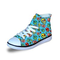 Kids Sneaker Skull Pattern Walking Shoe Breathable