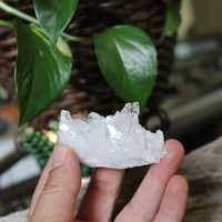 "2.25"" Clear Quartz Cluster, Natural Crystal Healing Stone, Chakra, Reiki, Pagan Altar Supplies"