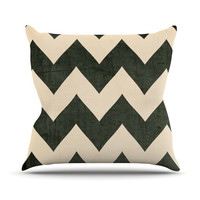 "Catherine McDonald ""Vintage Vinyl"" Outdoor Throw Pillow, 16"" x 16"" - Outlet Item"