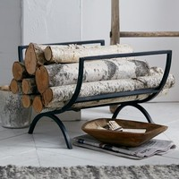 Rings Fireplace Log Holder
