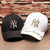 MLB NY Fashion New Embroidery Letter Couple Sunscreen Casual Travel Cap Hat