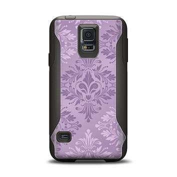 The Light and Dark Purple Floral Delicate Design Samsung Galaxy S5 Otterbox Commuter Case Skin Set