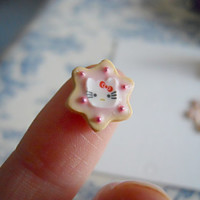 Six Adorable Hello Kitty Dollhouse Miniature Sugar Cookies