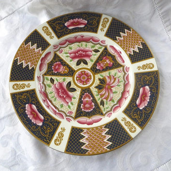 Coalport Java Dinner Plate, English Bone China, Vintage Imari Style Dinnerware, Made in England, Wall Plate